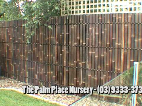 bamboo fencing panel before and after