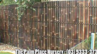 Bamboo Fencing Panel Installation Before And After Demonstration