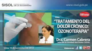 Tratamiento de ozonoterapia  Contra el Dolor Crónico  Dra  Carmen Cabrera   Radio Nacional   Sisol