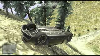 #40【GTA5】GTA5の中で一番速い車で登山して下山する!!