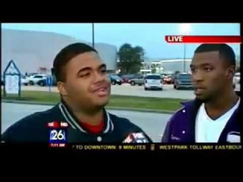 Fox 26 News Houston, Texas turns Ghetto on Air Jordan shoe sale December 23, 2011.