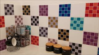 Mosaic Tile Stickers for kitchen / bathroom tiles