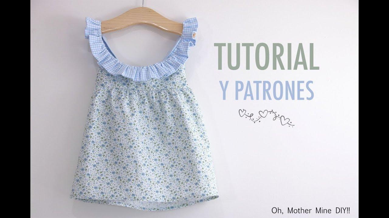 Aprender a coser: Vestido combinado cuadro y flores (Patrones gratis ...