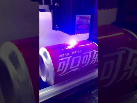DIY 15w laser engraving machine engraving on cylinder on metal