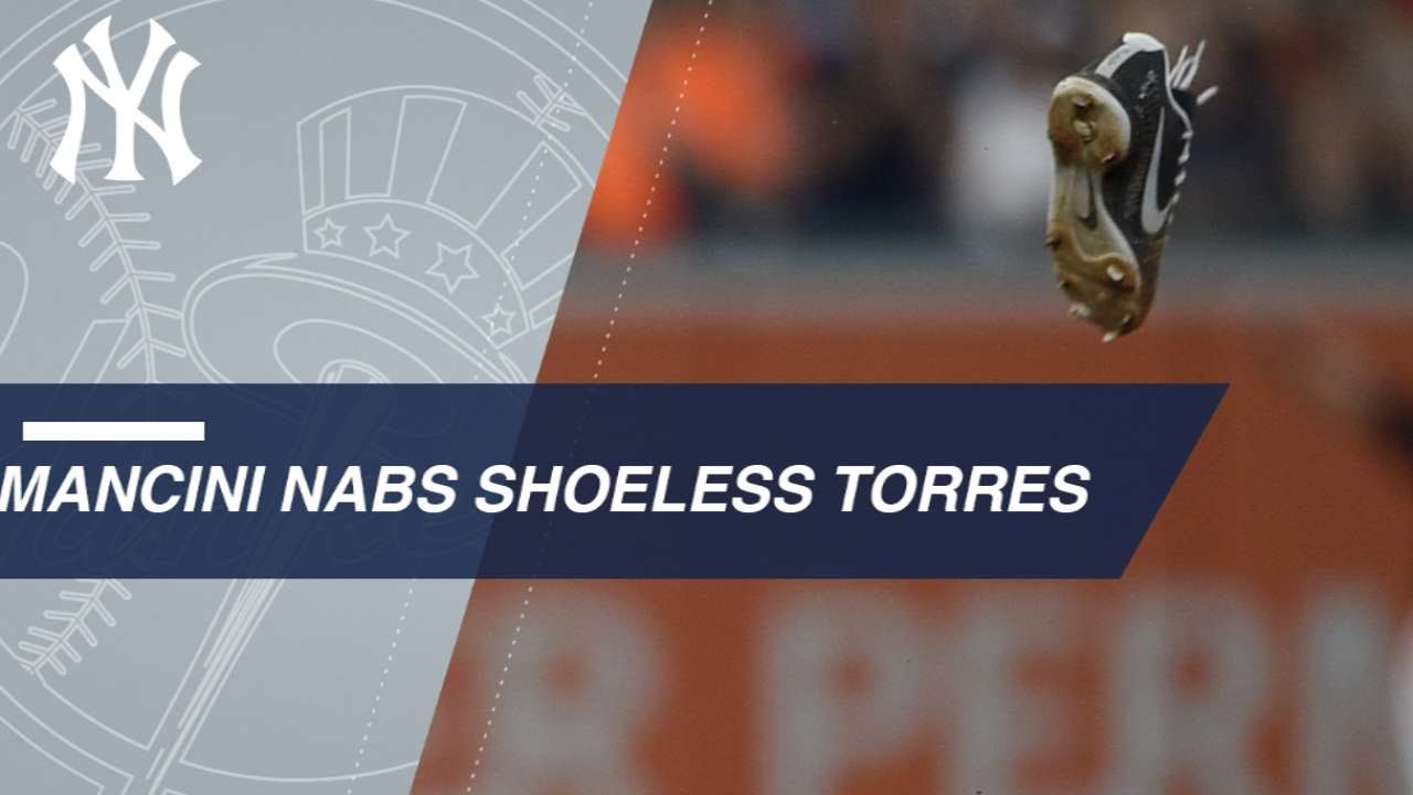 Gleyber Torres is out one shoe in Yankees' win