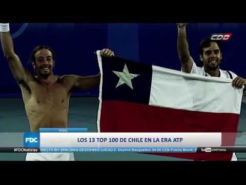 Los 13 tenistas chilenos TOP 100 del ránking ATP