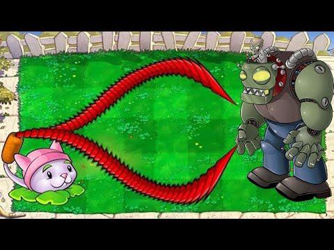 99999 Cattail vs Squash vs 99 Gargantuar Plants vs Zombies