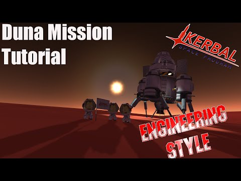 Kerbal Space Program - Duna Tutorial Engineering Style V1.0