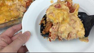 Cheesy Dorito Mexican Casserole