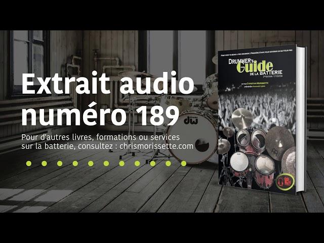 Extrait audio numéro 189 - Drummer's Guide de la batterie