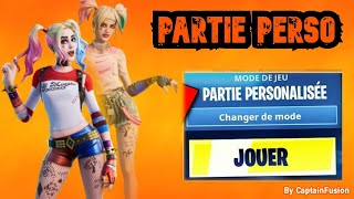 LIVE FORTNITE , PUBLIC PERSO PART ON FORTNITE !!! CODE CREATOR: CaPTAINFUSIONYTB