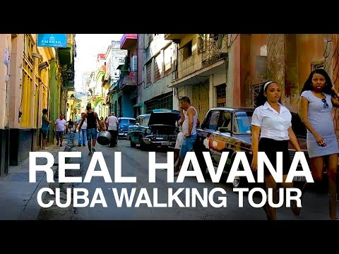 REAL HAVANA WALKING TOUR - back streets in winter