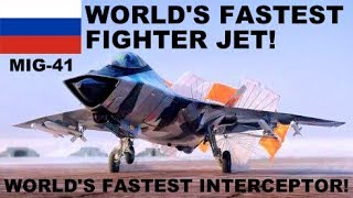 🔴 BREAKING: RUSSIA Developing World's FASTEST SUPERSONIC MiG-41 Fighter Jet for Soviet Air Forces!