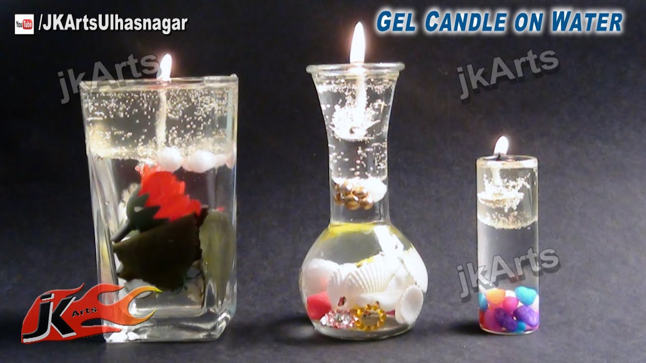 Nautical Home Decor Ideas Diy Gel Candle On Water How To Make Jk Arts 522 Youtube