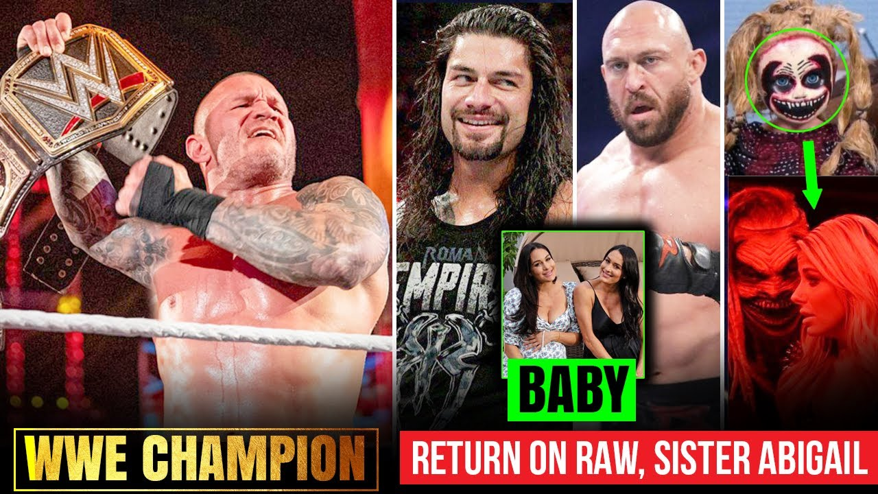 Orton CONFIRMED to be CHAMPION🏆? Roman Special Show, Apollo Returns, Sister Abi Identity, Bella Twin