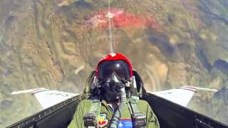 Amazing video shows what happens when a normal man gets to fly in a Thunderbird F 16   and his react