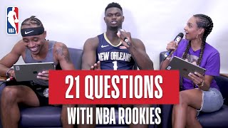 The 2019 NBA Rookies Play 21 Questions  Zion Williamson RJ Barrett Tyler Herro And More