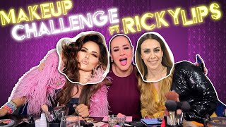 #MakeUpChallenge Gloria Trevi & Mónica Naranjo con Ricky Lips   Pepe & Teo