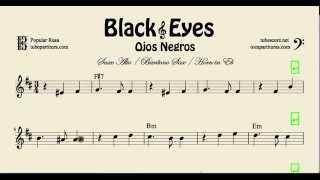 Video Ojos Negros Partitura de Saxofón Alto Saxofón Barítono y Corno en Mi bemol Black Eyes download MP3, 3GP, MP4, WEBM, AVI, FLV Mei 2018