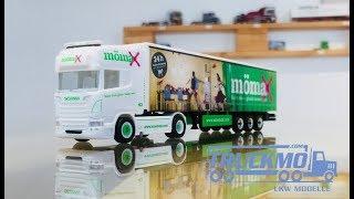 Mömax Scania R Topline 2013 Planenauflieger 939478 Herpa