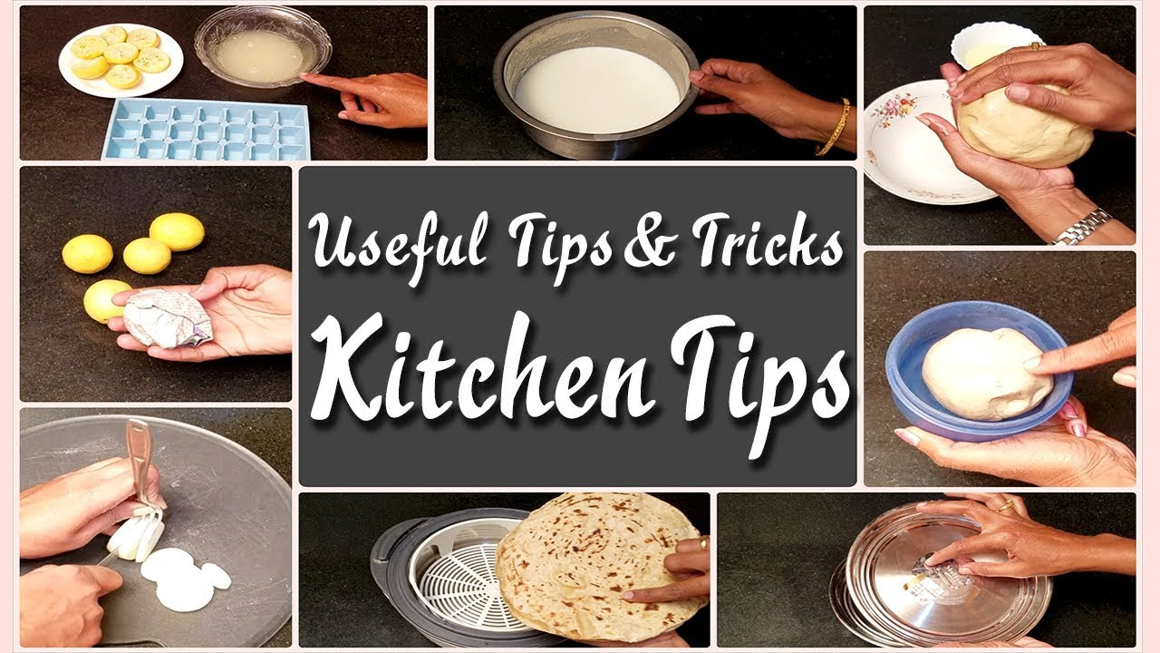 Kitchen Tips and Tricks  Amazing Kitchen Tips  Cooking Hacks  Time Saving Cooking - YouTube
