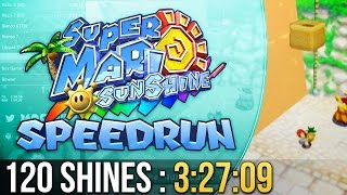Super Mario Sunshine 120 Shines Speedrun in 3:27:09