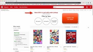 Target 30% Off Video Game Discount Sale June 2019 - Must Pickup at Store For Discount!