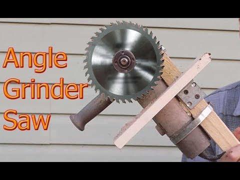 Homemade Angle Grinder Saw  ||  DIY