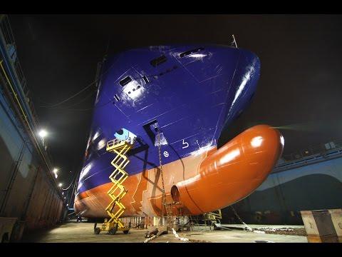 Dry dock of M/V Neptune Thelisis at ODESSOS Shipyard - Varna, Bulgaria