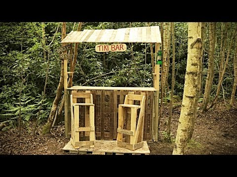 Build A Tiki Bar From Recycled Pallet Wood - Off Grid Project