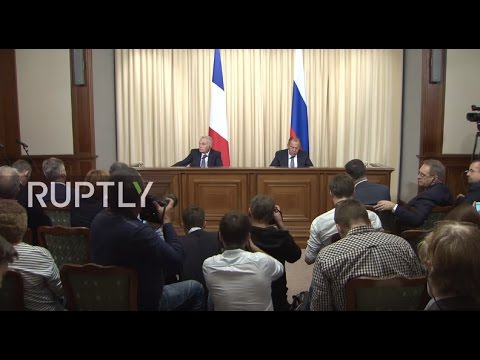 LIVE: Lavrov and French FM Ayrault hold press conference in Moscow