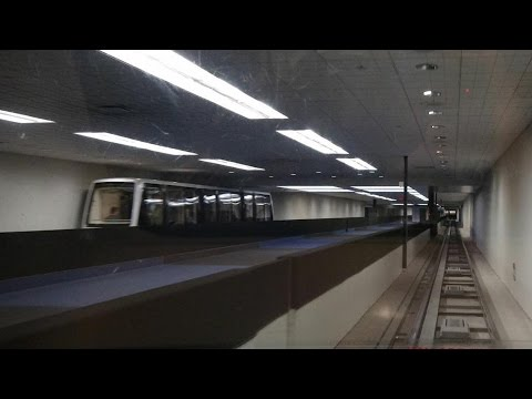 A full round trip on the Subway (fmr. Inter-Terminal) train at Houston George Bush IAH Airport