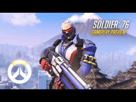 Soldier: 76 Gameplay Preview | Overwatch | 1080p HD, 60 FPS