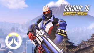 Soldier: 76 Gameplay Preview   Overwatch   1080p HD, 60 FPS