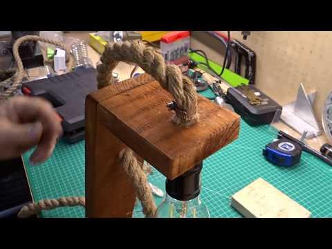 HOMEMADE Rustic Desk Lamp