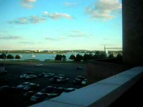 UMass Boston Campus - Clear vs. Foggy