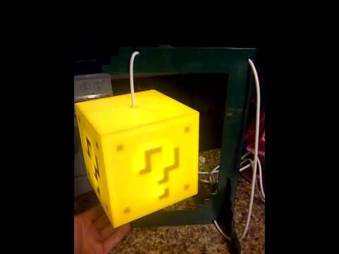My New Question Block Lamp From 8 Bit Lit!