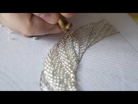 Tambour Embroidery. Embroidered Painting.Part 1