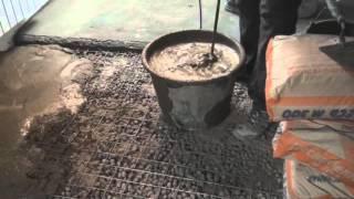 видео стяжка по керамзиту