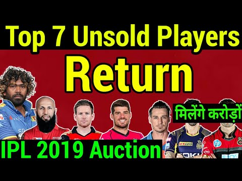 IPL2019 Auction: Top 7 Unsold player return, Big buy