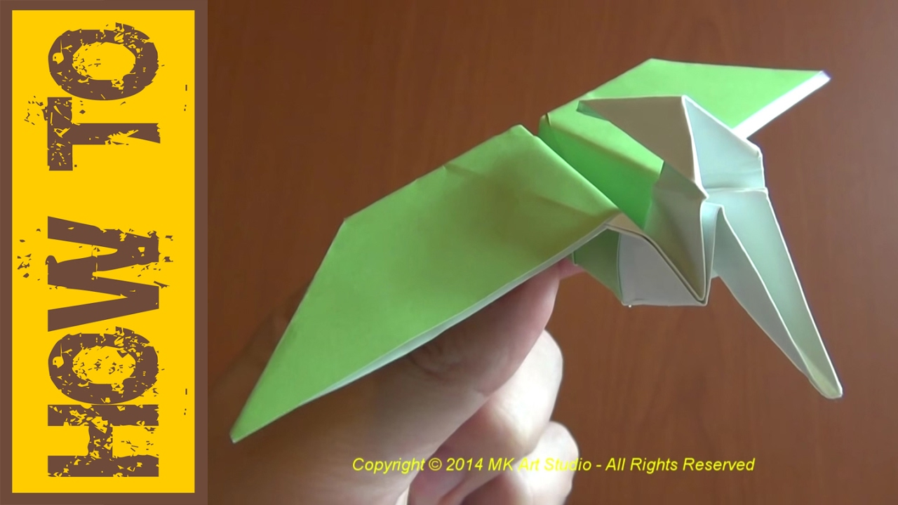 Papercraft How to Make a Paper Dinosaur / Origami Pterodactyl