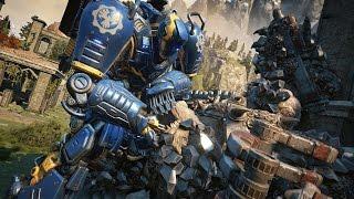 Gears of War 4: Mech vs Swarmak Boss Fight (4K 60fps)