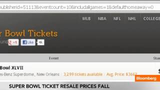 Super Bowl Ticket Average Resale Prices Fall
