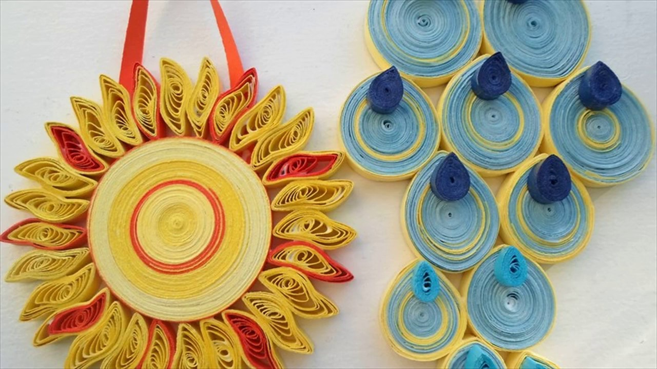Sun Wall Art Paper quilling Kids Room - YouTube