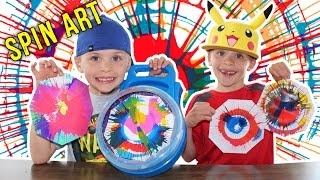 Cra-Z-Art Spinning Art Painting Playset || Twins Messy Art Time Fun thumbnail