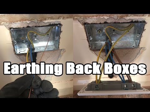 Do we need to earth back boxes?