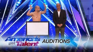 Vinny Grosso: Comedy Magician Leaves Little To The Imagination - America's Got Talent 2017