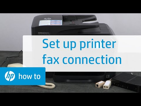 Setting Up a Fax Connection with an HP Printer | HP Printer | HP