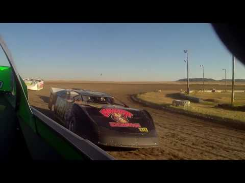 6/30/2017 BMP Speedway heat race in car (rear)