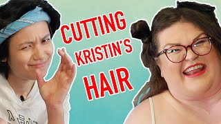 Jen Cuts Kristin's Hair For The First Time | Kitchen & Jorn